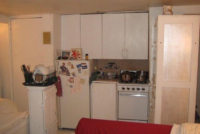Alice's studio kitchen.