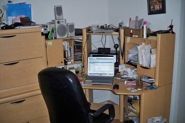 Before: Nicole's desk area.