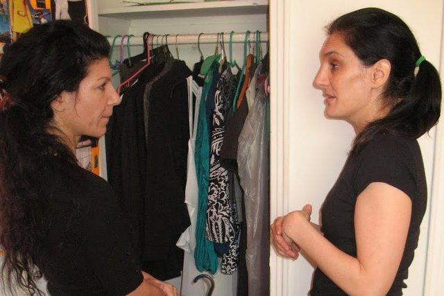Before: Jasmine and Maeve make closet decisions.