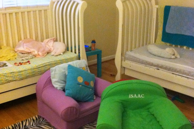 Before: The twins' room.