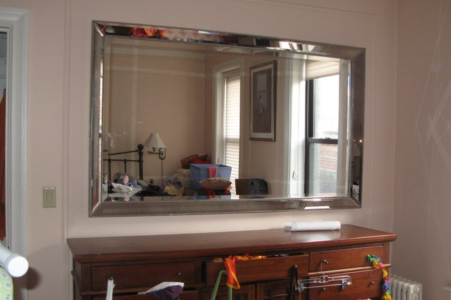 After: Sarah cleared the dresser and was inspired to get the mirror up.