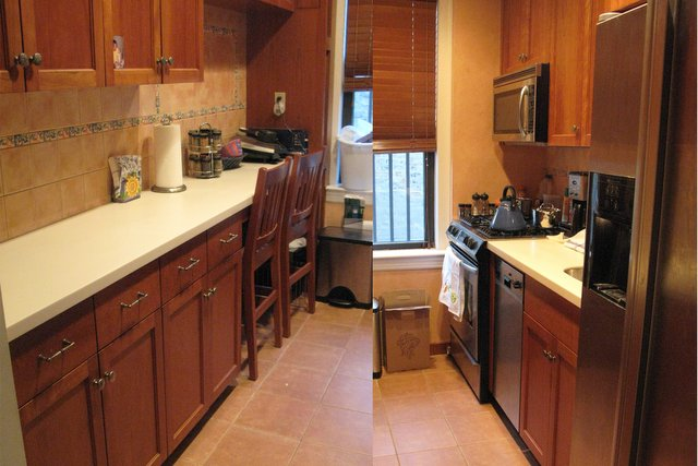 After: Sarah's kitchen, with only the necessities out.