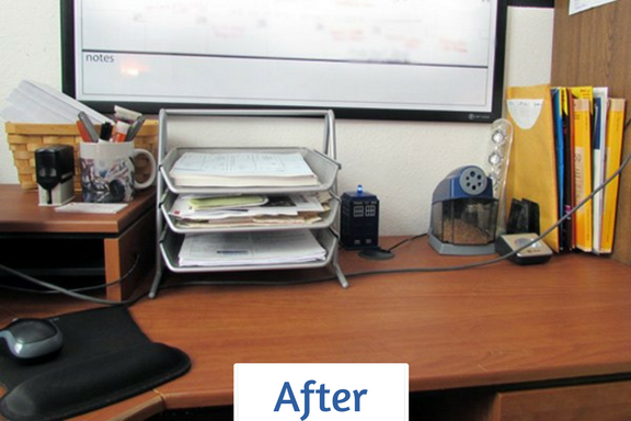 Pam's 'after' - clean, clear and ready for business!