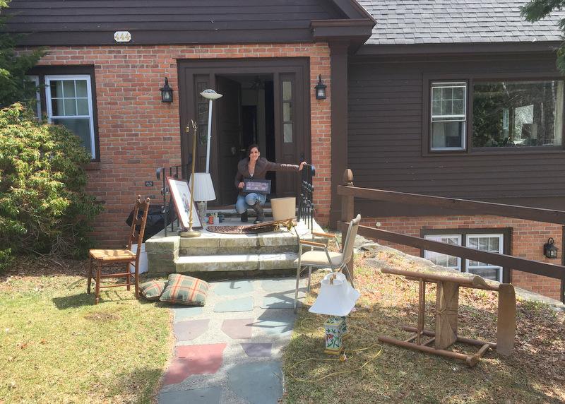 Maeve Reunion House Steps