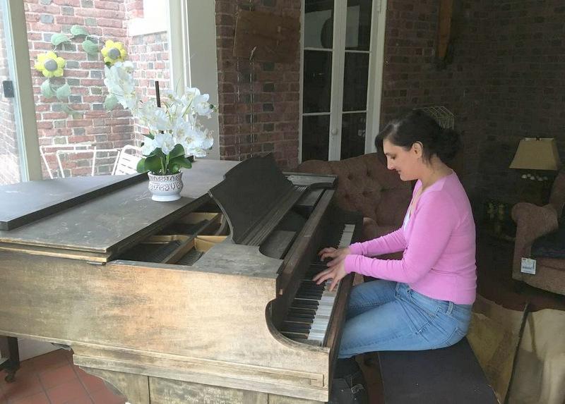 Maeve At Piano