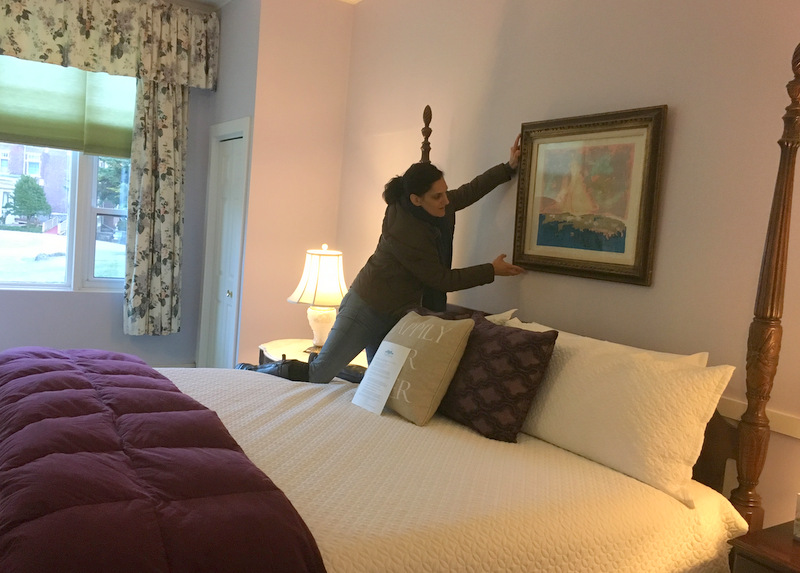 Maeve Hanging Art Over Bed